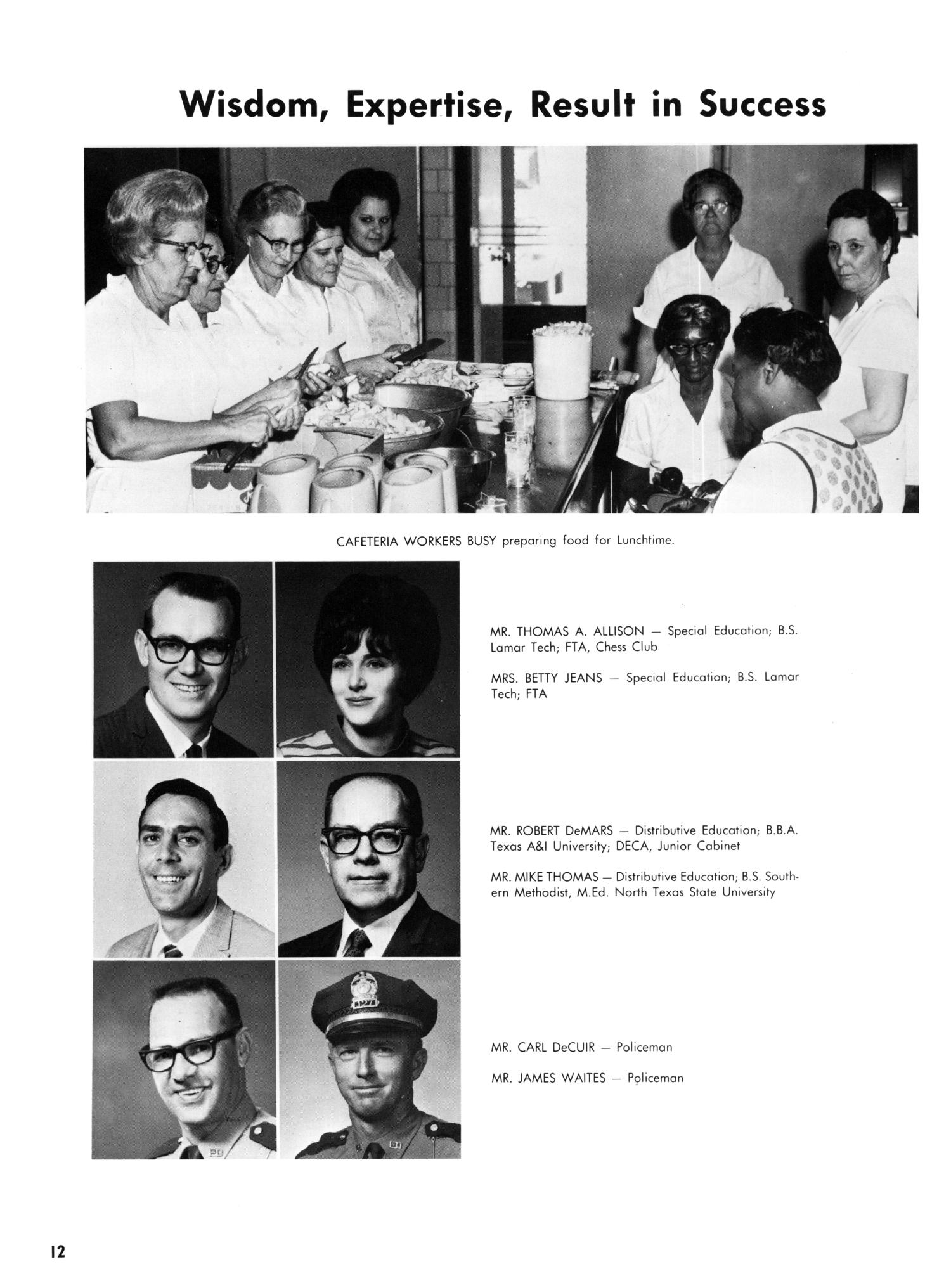 The Yellow Jacket, Yearbook of Thomas Jefferson High School, 1970                                                                                                      12
