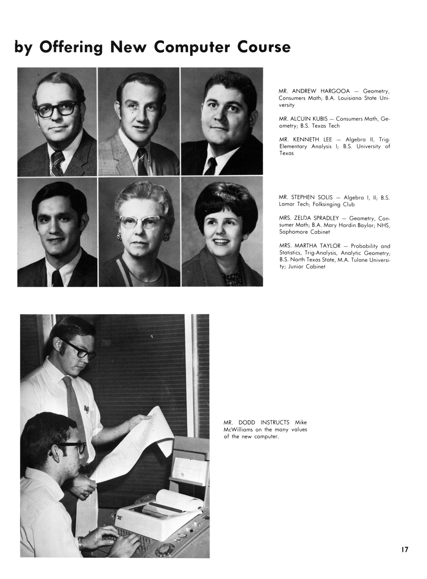 The Yellow Jacket, Yearbook of Thomas Jefferson High School, 1970                                                                                                      17
