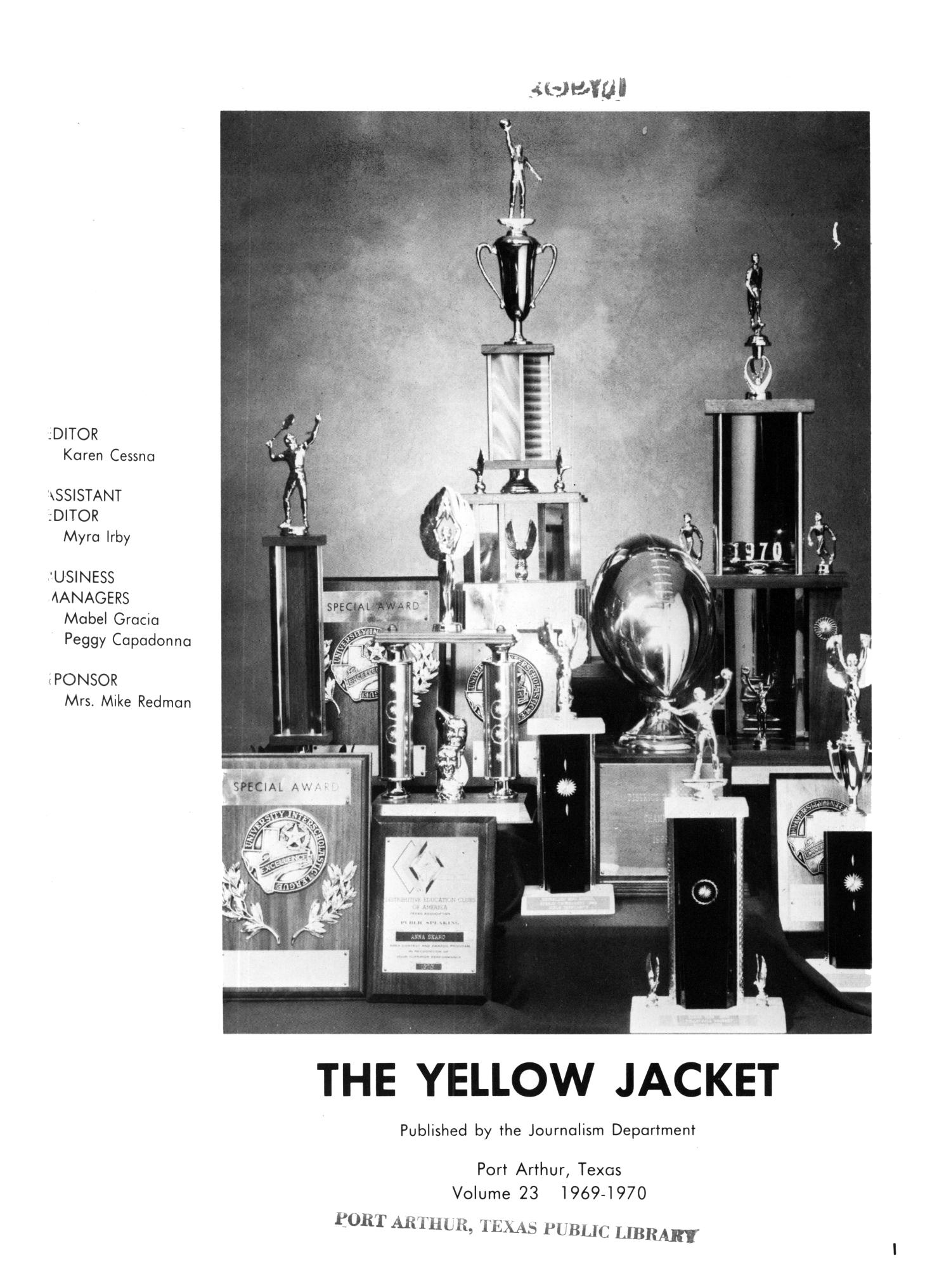 The Yellow Jacket, Yearbook of Thomas Jefferson High School, 1970                                                                                                      1