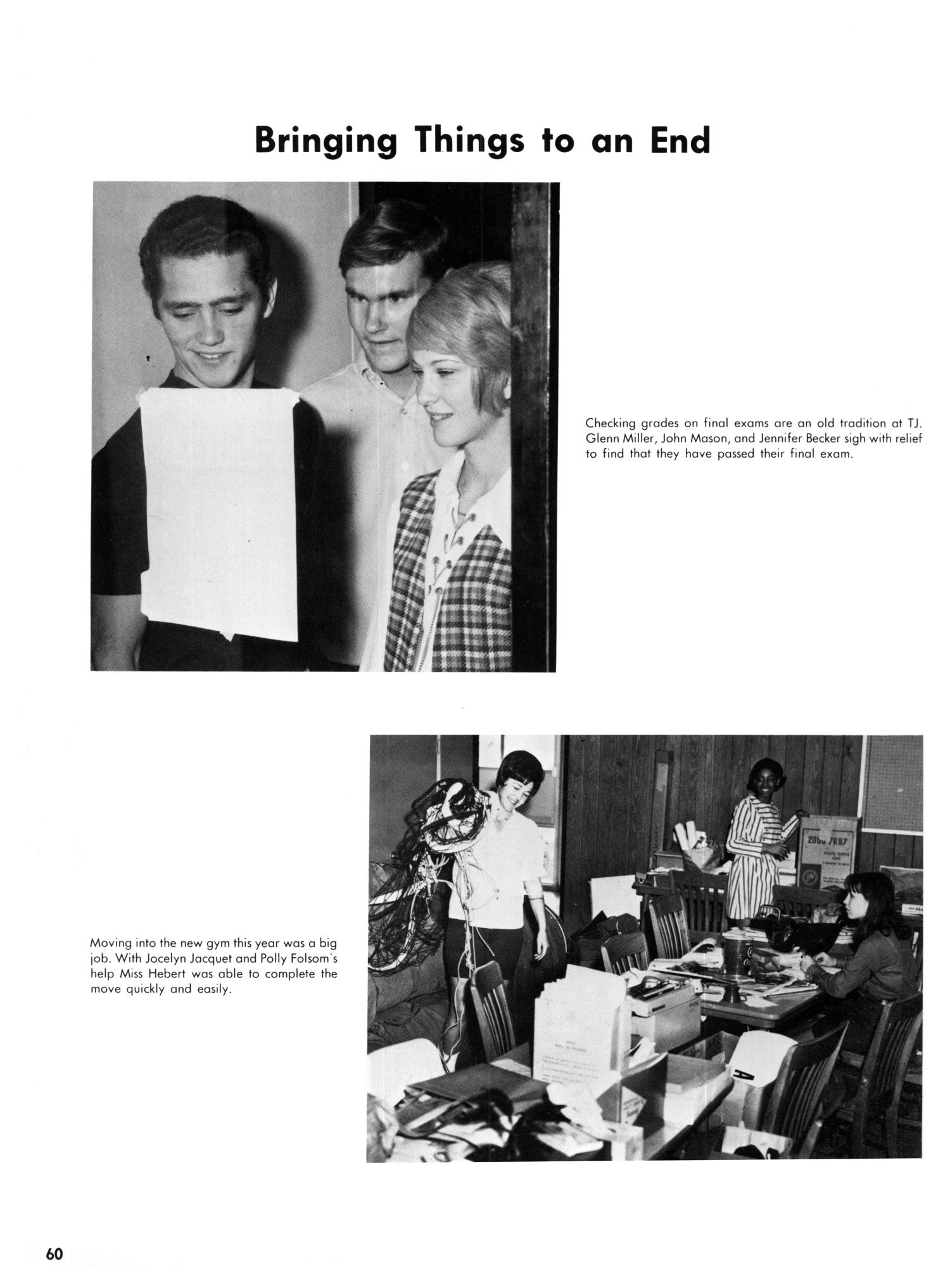 The Yellow Jacket, Yearbook of Thomas Jefferson High School, 1970                                                                                                      60