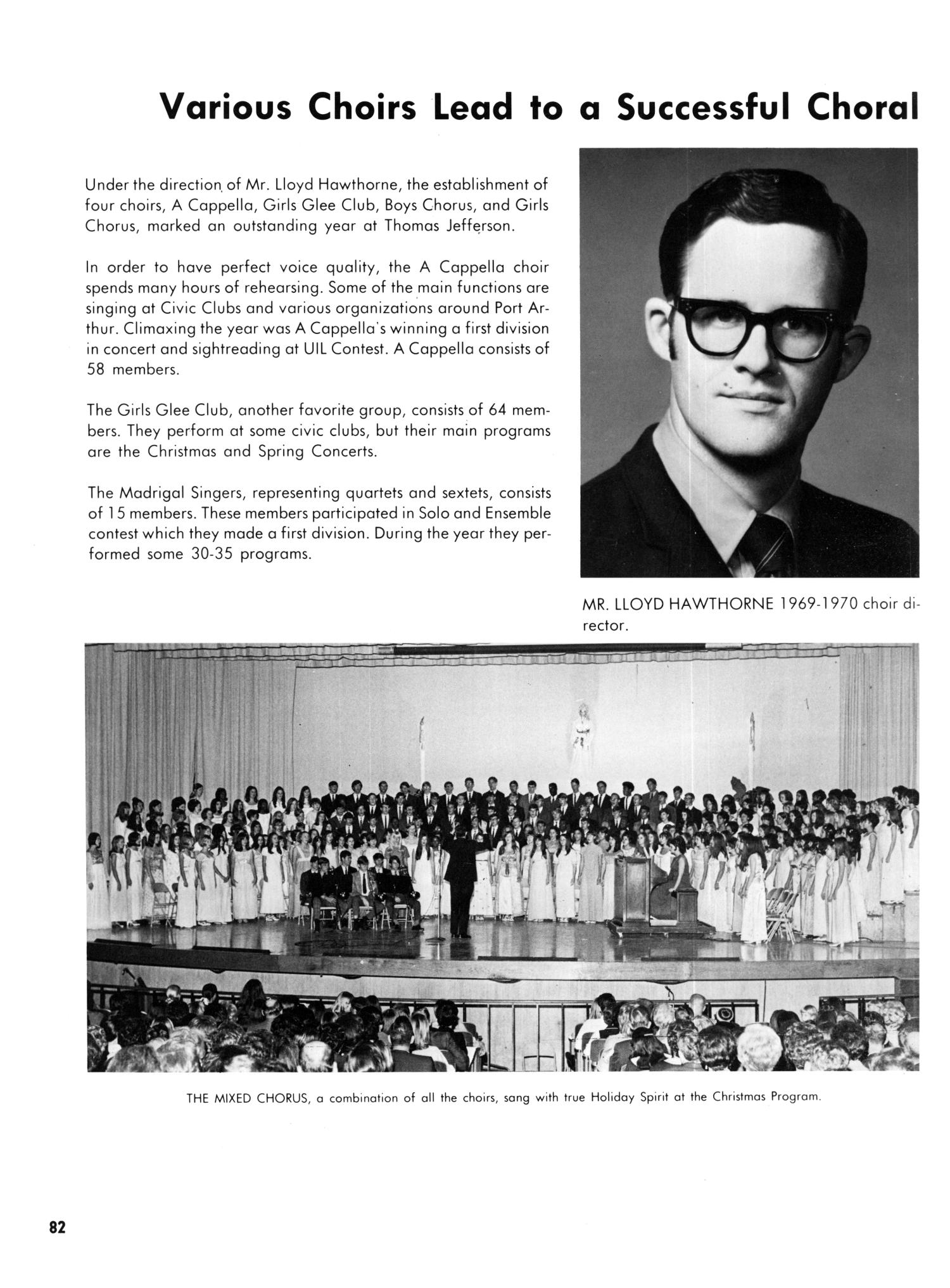The Yellow Jacket, Yearbook of Thomas Jefferson High School, 1970                                                                                                      82