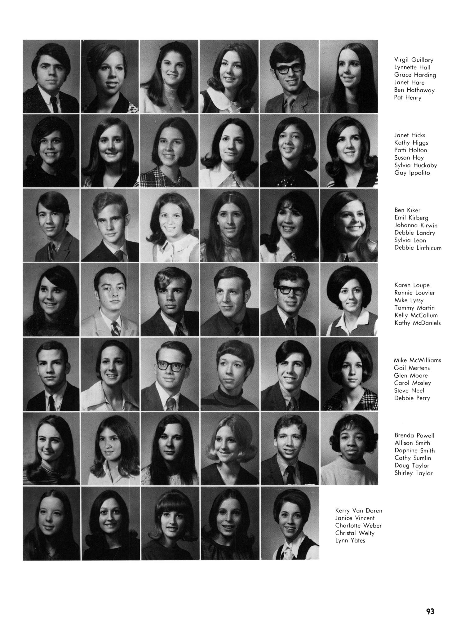 The Yellow Jacket, Yearbook of Thomas Jefferson High School, 1970                                                                                                      93