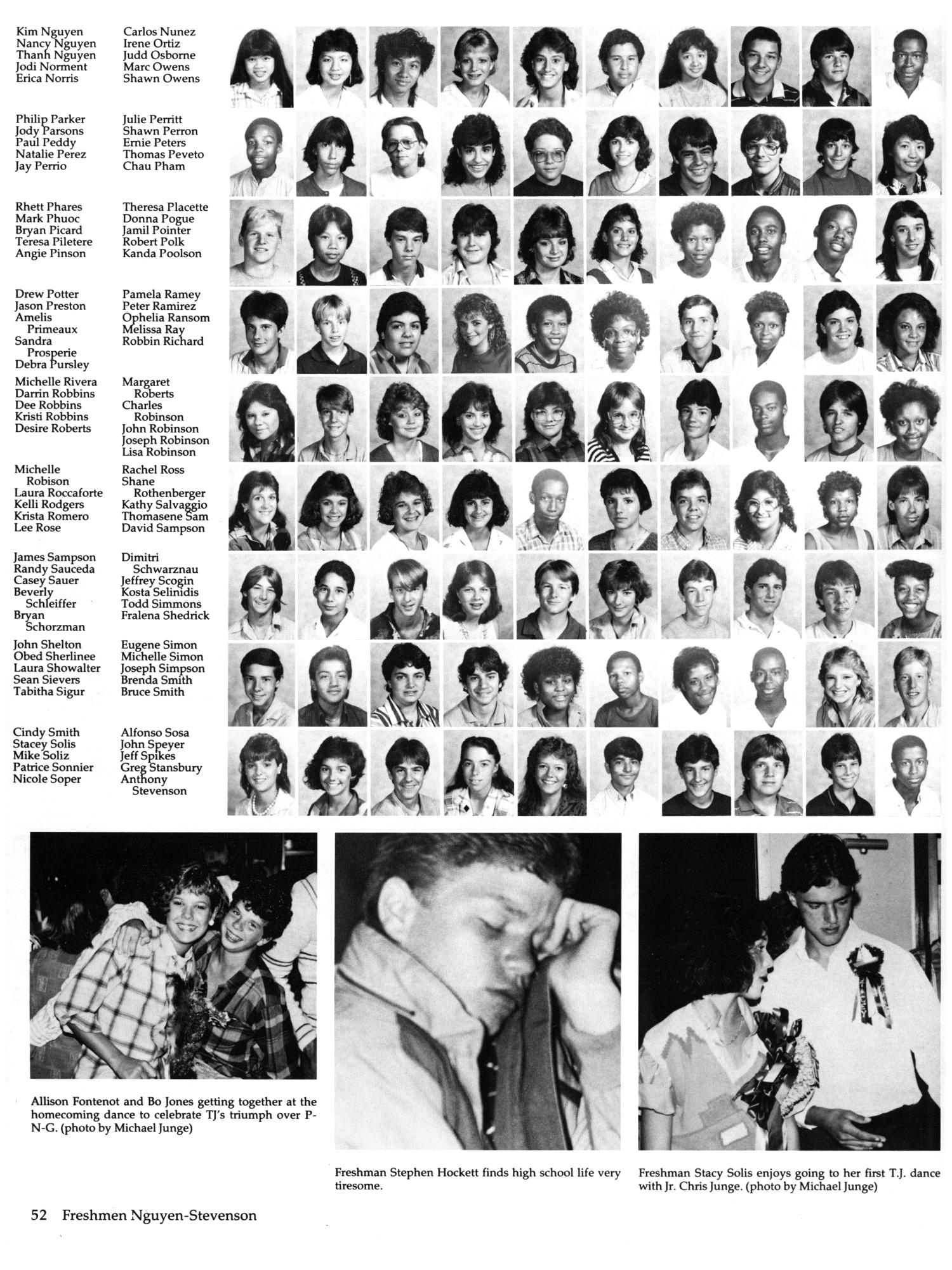 the yellow jacket yearbook of thomas jefferson high