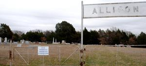 Primary view of object titled '[Photograph of Allison Cemetery]'.