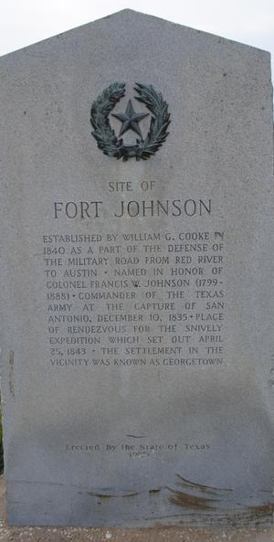 Primary view of object titled '[Marker: Fort Johnson]'.