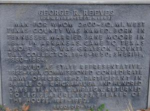 Primary view of object titled '[Marker: George R. Reeves]'.