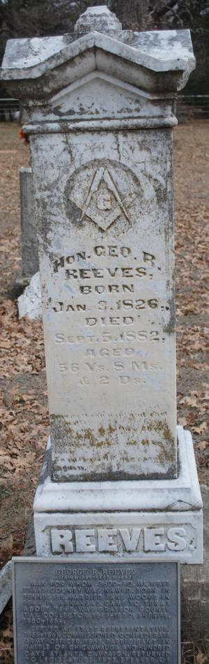 [Photograph of George R. Reeves' Grave]