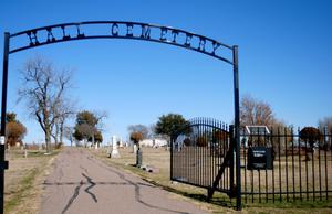 [Photograph of Hall Cemetery]