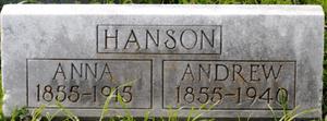 [Photograph of Andrew Hanson's Grave]
