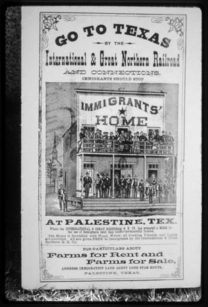 Primary view of object titled '[I&GN Land Sales Poster]'.