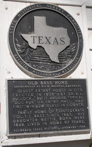 [State Historical Survey Committee Marker: Old Bass Home]