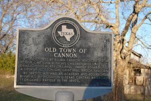[Texas Historical Commission Marker: Old Town of Cannon]