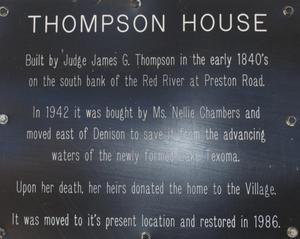 Primary view of object titled '[Marker: Thompson House]'.