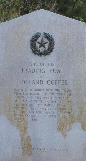 Primary view of object titled '[Marker: Trading Post of Holland Coffee]'.