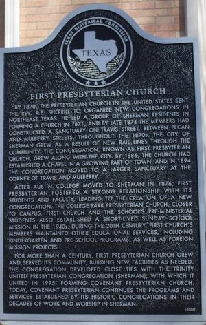 [Texas Historical Commission Marker: First Presbyterian Church]