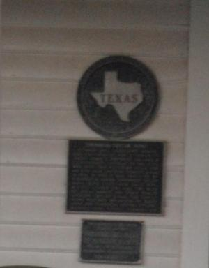 Primary view of object titled '[Texas Historical Commission Marker: Umphress-Taylor Home]'.