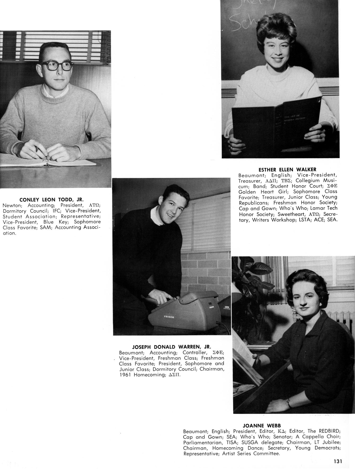 The Cardinal, Yearbook of Lamar State College of Technology, 1962 ...