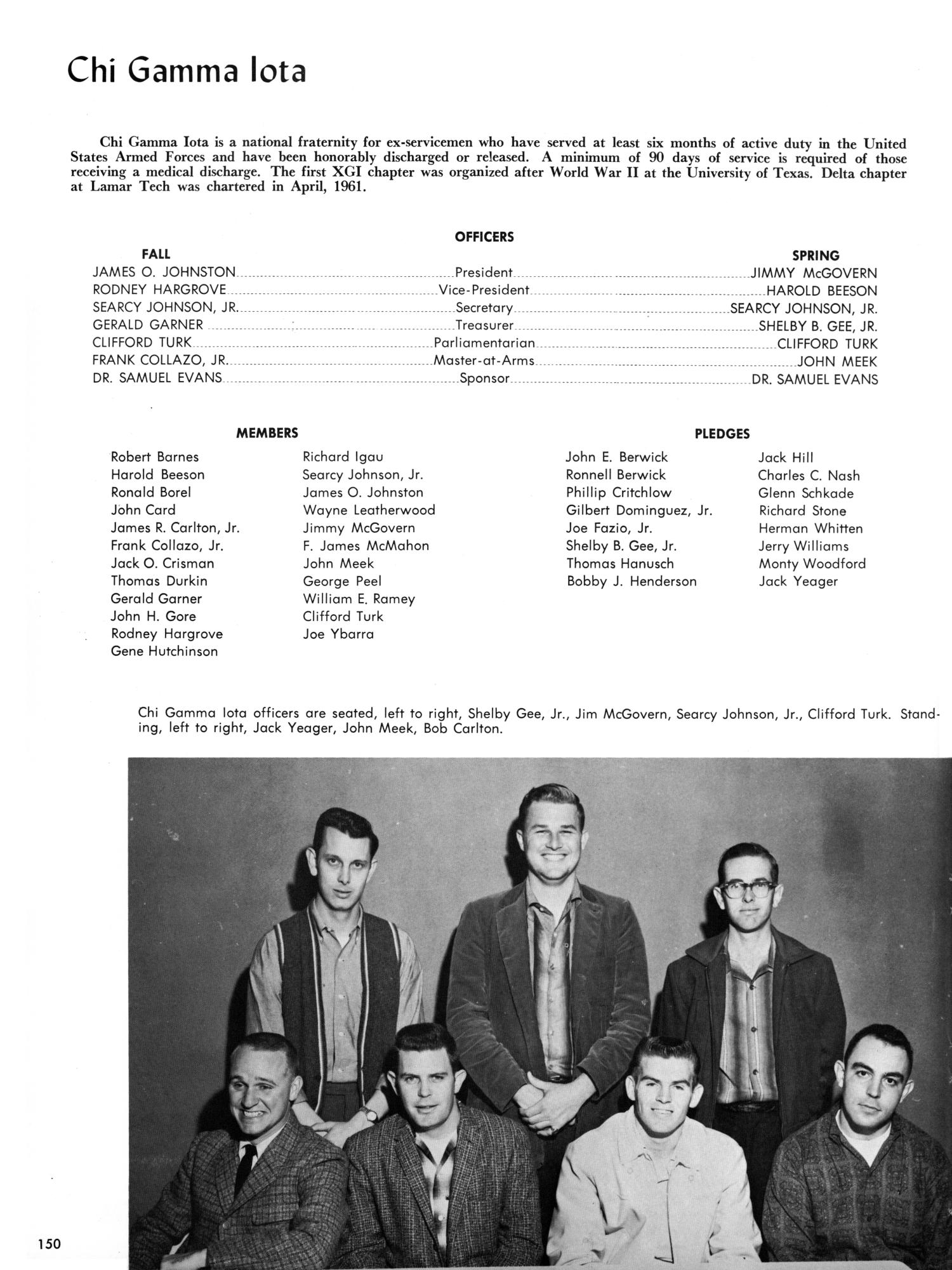 Chapter 61 medical discharge - The Cardinal Yearbook Of Lamar State College Of Technology 1962 Page 150 The Portal To Texas History