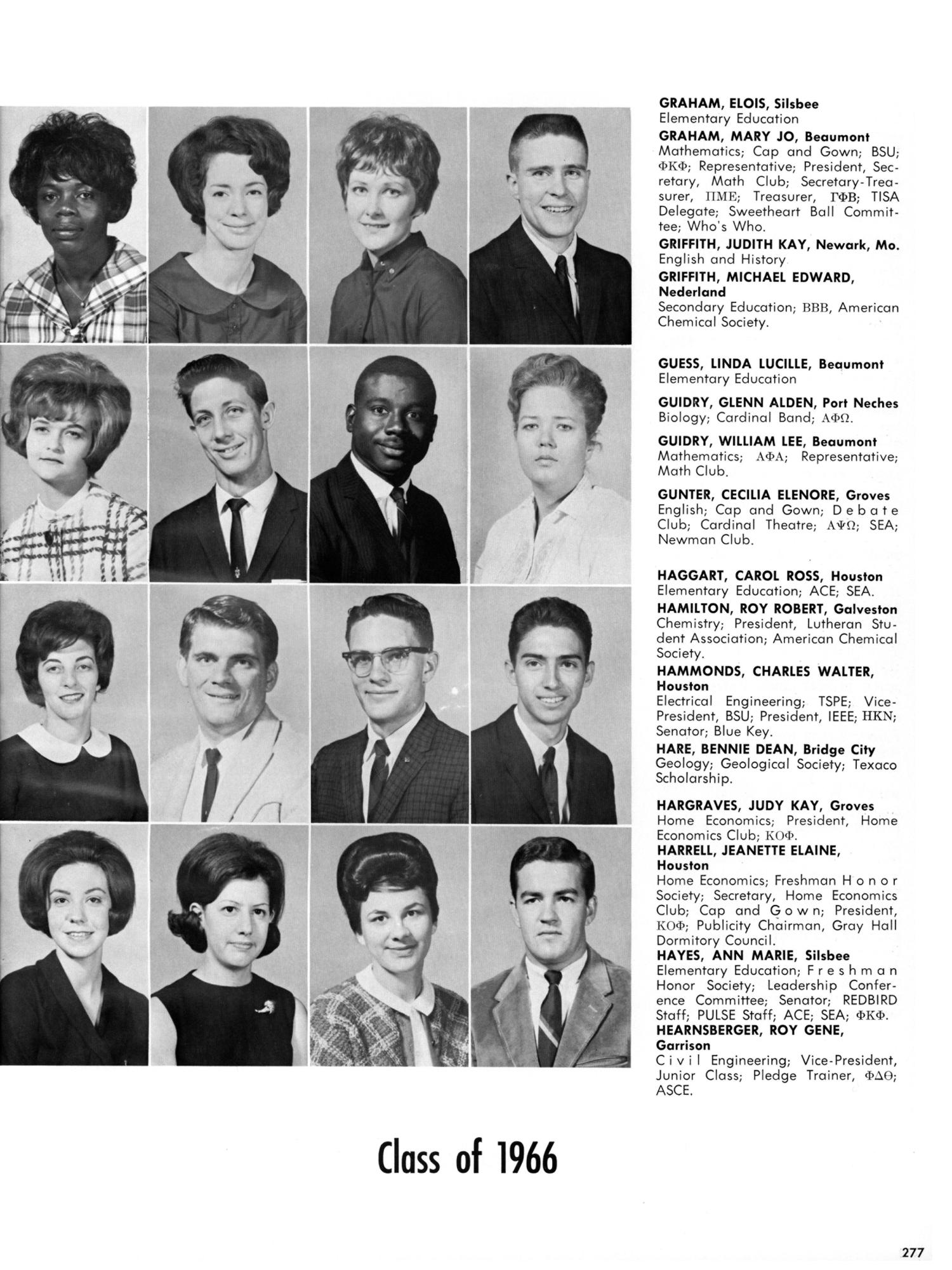 The Cardinal, Yearbook of Lamar State College of Technology, 1966 ...