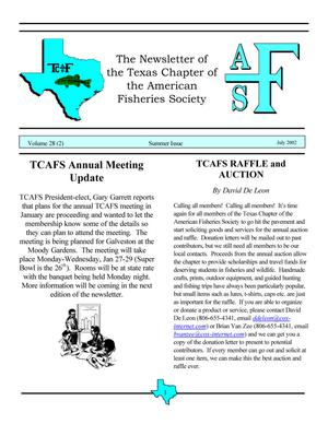 The Newsletter of the Texas Chapter of the American Fisheries Society, Volume 28, Number 2, 2002