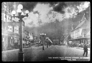 Primary view of object titled '[Postcard of The Great White Way - Spring Street]'.