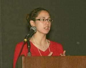 Primary view of object titled '[Megan Nims Speaking at TCAFS Annual Meeting]'.
