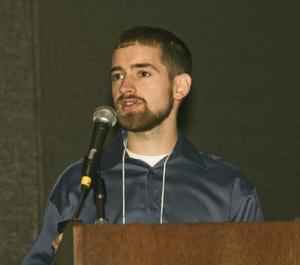 Primary view of object titled '[Ben Furey Speaking at TCAFS Annual Meeting]'.