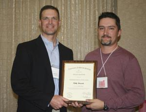 [Bobby Wienecke award at the 2012 annual meeting banquet]