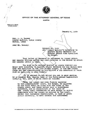 Primary view of object titled 'Texas Attorney General Opinion: O-7'.