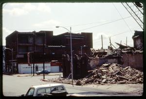 Primary view of object titled '[Demolition of O'Neill Hotel]'.