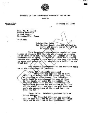 Primary view of object titled 'Texas Attorney General Opinion: O-122'.