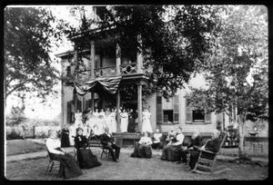 Primary view of object titled '[Gathering at John H. Reagan's Home]'.
