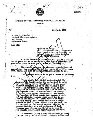 Primary view of object titled 'Texas Attorney General Opinion: O-383'.