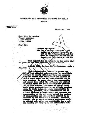 Primary view of object titled 'Texas Attorney General Opinion: O-529'.