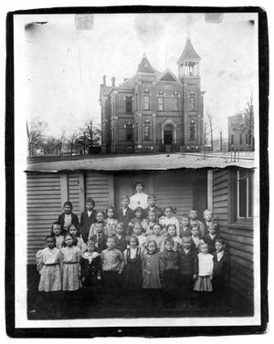 Primary view of object titled '[Second Ward School Students and Teacher]'.