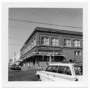 Primary view of object titled '[Bratton Drug Store - Corner of N. Sycamore and W. Oak Str]'.