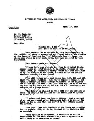 Primary view of object titled 'Texas Attorney General Opinion: O-611'.
