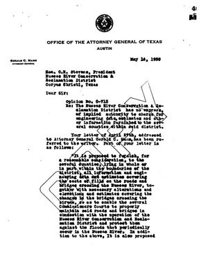 Primary view of object titled 'Texas Attorney General Opinion: O-715'.