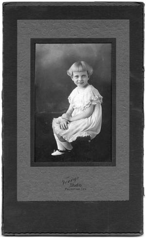 Primary view of object titled '[Unidentified Girl]'.