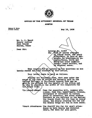 Primary view of object titled 'Texas Attorney General Opinion: O-807'.