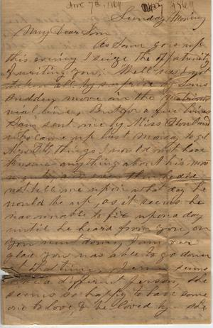 Primary view of object titled 'Letter to Cromwell Anson Jones, [7 November 1869]'.