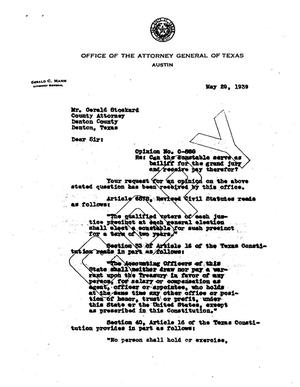 Primary view of object titled 'Texas Attorney General Opinion: O-880'.