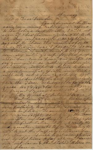 Primary view of Letter to Cromwell Anson Jones, [24 October 1869]
