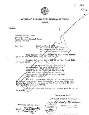 Primary view of object titled 'Texas Attorney General Opinion: O-1042'.