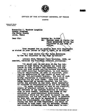 Primary view of object titled 'Texas Attorney General Opinion: O-1090'.