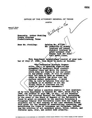 Primary view of object titled 'Texas Attorney General Opinion: O-1150'.