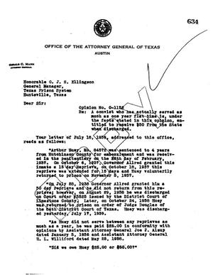 Primary view of object titled 'Texas Attorney General Opinion: O-1152'.