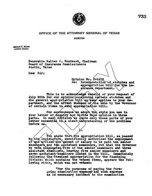 Primary view of object titled 'Texas Attorney General Opinion: O-1176'.