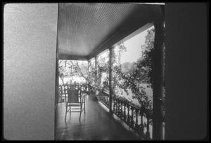 Primary view of object titled '[Porch of an Unidentified House 48738]'.