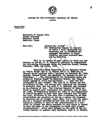 Primary view of object titled 'Texas Attorney General Opinion: O-1308'.